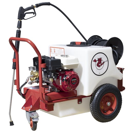 Small Bowser Mounted Pressure Washer - Petrol