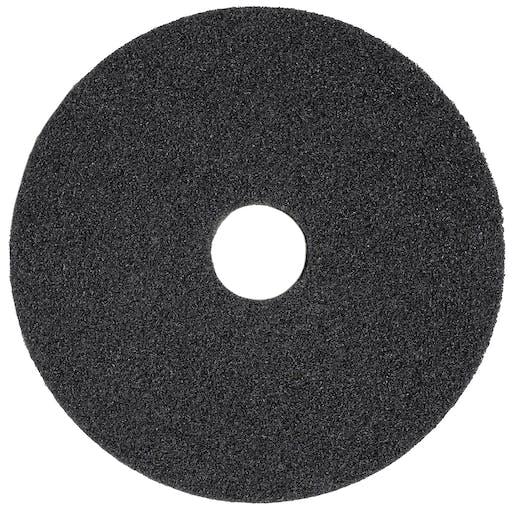 "Black Floor Scrubbing Pads - 17"""
