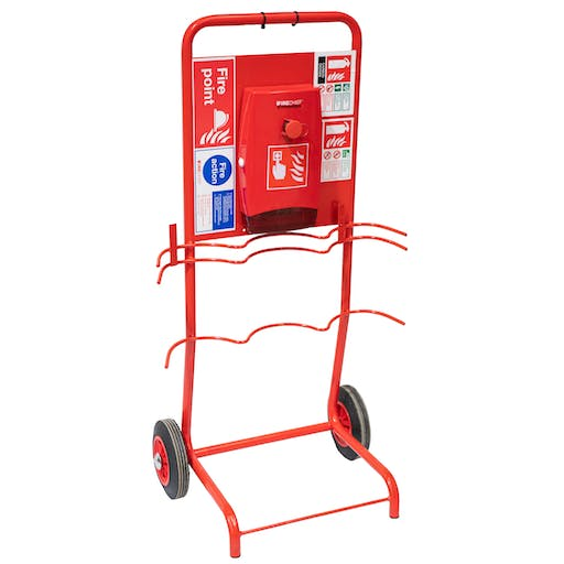Double Extinguisher Fire Point Trolley