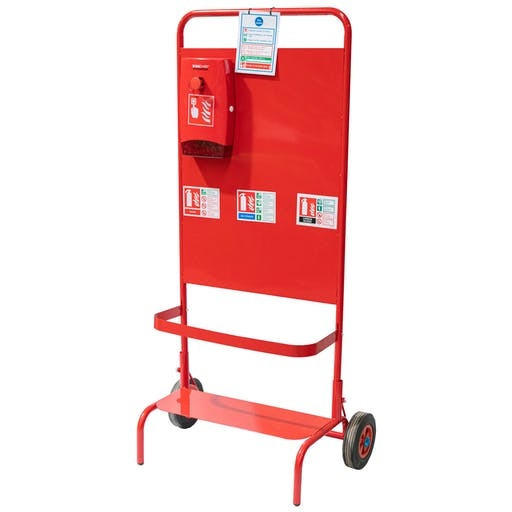Triple Extinguisher Fire Point Trolley
