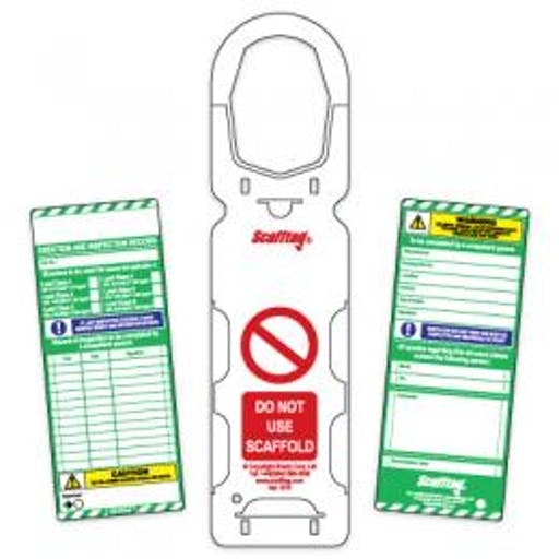 Scaff Tag - (for podiums)