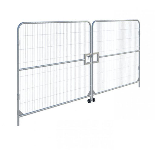 Temporary Fencing Vehicle Gate Set